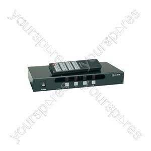 AD-AV44 4:4 A/V Matrix Switcher with IR Remote Control - (UK version) 4x4
