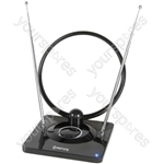 Indoor amplified TV antenna