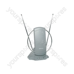 ST36A TV/FM Indoor Amplified Aerial - antenna with amplifier, blister