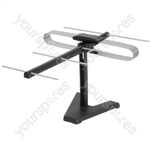 75 Ohms indoor set top TV aerial - full colour box