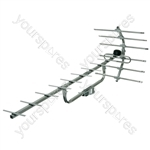 Dedicated digital wideband UHF aerial