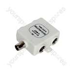 4 Way Signal Splitter - MX40 4-way -Seal Bag
