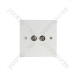 Double F Connector Flush Outlet