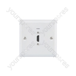 HDMI Steel Wallplate - white