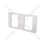Modules Wallplate - double gang frame