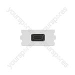 Wallplate Module - Right Angled HDMI Coupler - Modules modules