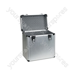 "12"" vinyl flight case, aluminium deluxe, holds 50 x 12"""