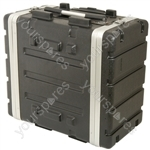 "6U ABS 19"" rack trolley case"