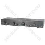 (UK version) 2:4 Audio management speaker selector with volume controls