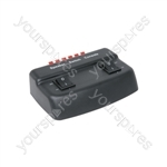 Loudspeaker selector, 2-way - Black