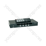 (UK version) 4x4 AV Matrix Switcher with IR Remote Control