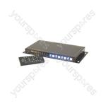 4x4 HDMI Matrix Switch - 4:4 Distribution - HD44