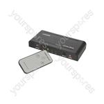 1080p HDMI Switches with IR Remote Control - Switcher 3x1 - HDM31