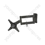 "Compact Flexible Double Arm TV/Monitor Wall Bracket 13"" to 40"""