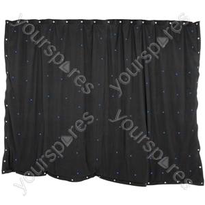 1 x 2m Black Star Cloth with 36 RGB LEDs