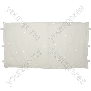 White LED Star Cloths - 1 x 2m with 36 LEDs - WSCW2