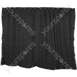 LED Starcloths - 3 x 2m Black with 96 Blue LEDs - SCB6