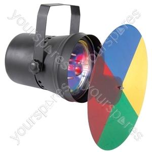 Par36 Spot Light with Colour Wheel - (UK version) - P-36CW