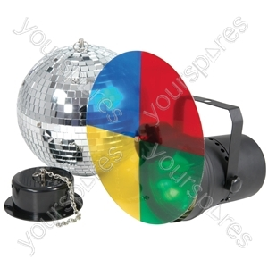 (UK version) Disco light set 3 with 20cm mirrorball