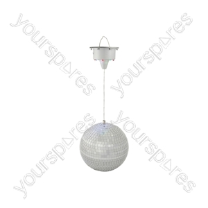 Glow mirror ball with LED motor