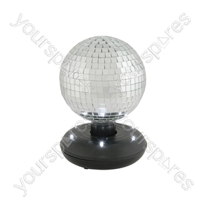 15cm Rotating Mirror Ball with LED Base