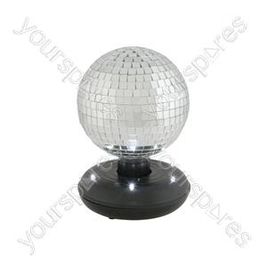15cm Rotating Mirror Ball with LED Base - RMB-150