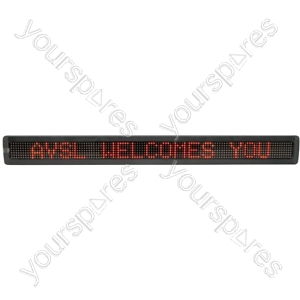 LED Moving Message Displays - 7 x 120 Red MKII - MM7120R-UK