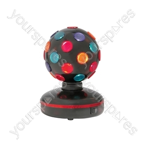 Rotating Disco Ball - (UK version) Ball, 5 Colours, Free Standing - DB-130