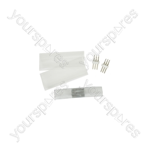LED Rope Light 3-wire Installation Accessories - Straight Coupler for