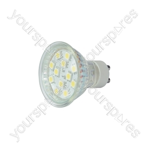 GU10 12 LED lamp - warm white (3000K)