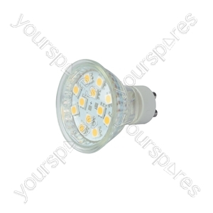 GU10 LED Lamps - 12 x LEDs - warm white (3000K) - GU10-12WW