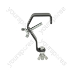 G shape mounting hook - black version