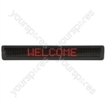 7 x 120 Red LED Moving message display MKII