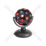 (UK version) Rotating Disco Ball, Bi-directional, 5-Colours, Free Standing