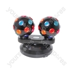 Dual Rotating Disco Balls - (UK version) Balls, Free Standing - DB2-112