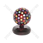Large Rotating Disco Ball - (UK version) ball, 5 colours, free standing - DB-260