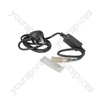 LED Rope Light 3-wire Installation Accessories - 1.5m Power Lead for Rope,c/w 3-pin connector and plastic sleeve