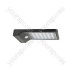 Solar LED Motion Sensor Security Light - Black
