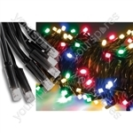 Heavy Duty LED String Lights - 90 static - Multicolour RGBA