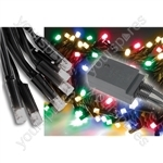 Heavy Duty LED String Lights with Controller - 90 oudoor - Multicolour RGBA