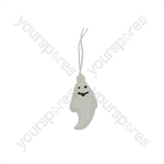 Halloween LED Battery String Lights - - 10 x White Ghosts - HW10-GHOCW