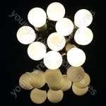 Outdoor LED Festoon Lights - 10 Bauble Warm White - BOF10WW