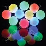 Outdoor LED Festoon Lights - 10 Bauble Multicolour - BOF10MC