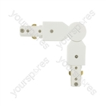 LED track lights - multi-angle connector white