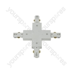 LED track lights - X connector white