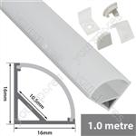 Aluminium LED tape profile 2m - 90 deg arc