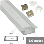 Aluminium LED tape profile 2m - recess