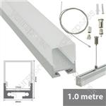 Aluminium LED tape profile 1m - batten