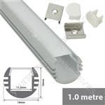 Aluminium LED tape profile 2m - round section