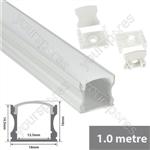 Aluminium LED tape profile 2m - tall crown